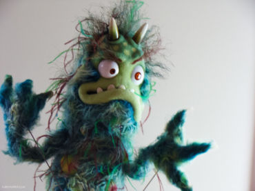 bacteria monster puppet