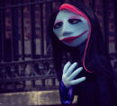 Goth puppet girl in Park Slope