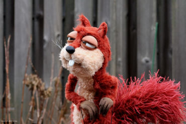 Big squirrel custom puppet