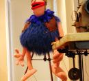 puppet making - blue viking