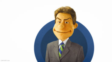 TV anchor custom puppet