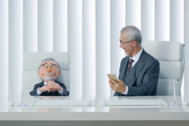 Apple Commercial starring puppets by Furry Puppet Studio