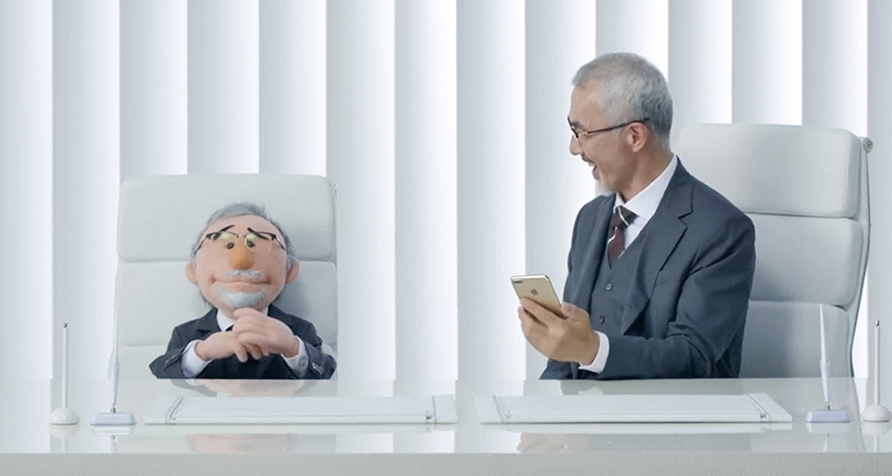 Puppets for an Apple Japan commercial