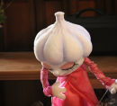 Mrs garlic puppet