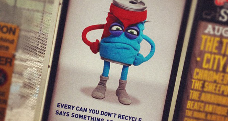 recycling puppets - coke can