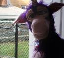 Purple Unicorn Puppet