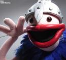 Custom puppet - blue viking